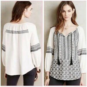 Akemi + Kin boho embroidered blouse size M